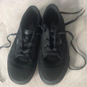 Black Vans, size 5 Youth